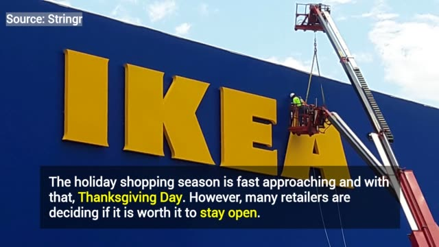 the holiday shopping season is fast approaching and with that thanksgiving day however many retailers are deciding if it is worth it to stay open... - black friday stock videos & royalty-free footage