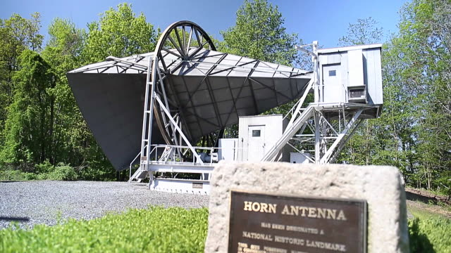 the holmdel horn antenna - microwave stock videos & royalty-free footage