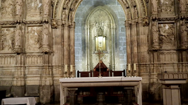 the holy grail valencia cathedral - stock video - religion stock videos & royalty-free footage