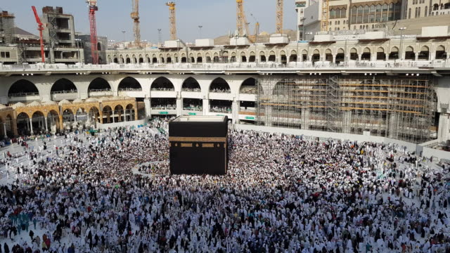 the holy kaaba, mecca saudi arabia. - hajj stock-videos und b-roll-filmmaterial