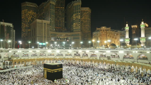 the holy kaaba, mecca saudi arabia. - mecca stock videos and b-roll footage