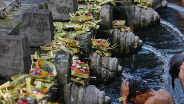 The holy springs at Tirta Empul, Bali Indonesia