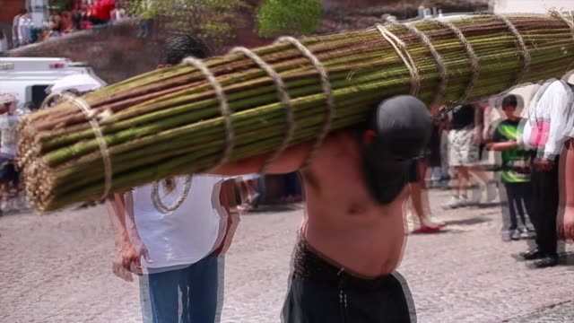 the holy week in taxco is one of the most important celebrations in mexico held since 1600 and many people attend the celebrations in taxco, mexico... - holy week stock videos & royalty-free footage