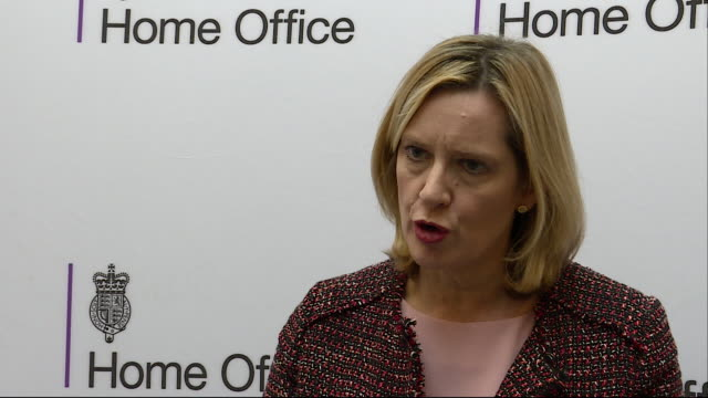 the home secretary amber rudd condemns national action as 'a vile group' that promotes 'homophobia [] violence and terrorism' and says that 'they... - censura video stock e b–roll