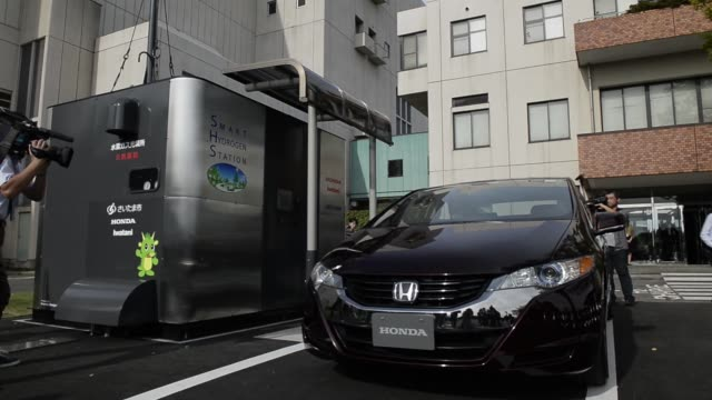 the honda motor co s smart hydrogen fueling station stands at the eastern area environmental center in saitama japan on thursday sept 18 a honda... - hydrogen stock videos & royalty-free footage