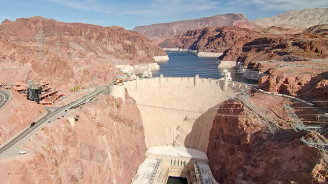 ws t/l ha the hoover dam - hoover dam stock videos and b-roll footage