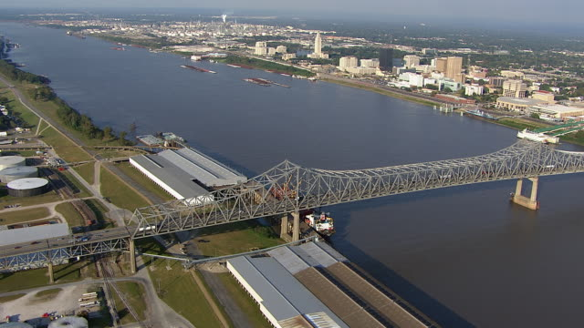 The Horace Wilkinson Bridge stretches over the Mississippi River between Port Allen and Baton Rouge.