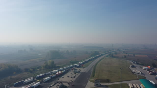 the horgos border crossing hungary serbia - hungary stock videos & royalty-free footage