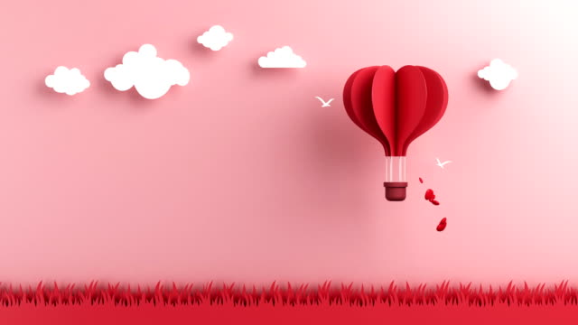 the hot air balloon was floating in the sky - heart stock videos & royalty-free footage