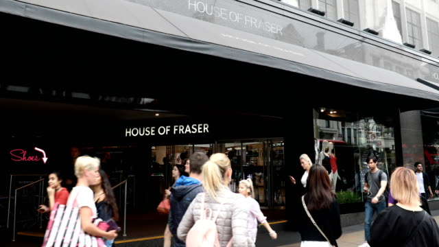 the house of fraser flagship department store stands on oxford street on june 7 2018 in london england house of fraser is to close 31 of its shops... - flagship store stock videos and b-roll footage