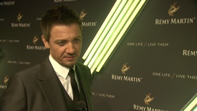 "the house of remy martin ""one life - live them"" launch event with jeremy renner at artbeam on october 20, 2015 in new york city. - 2015 stock videos & royalty-free footage"
