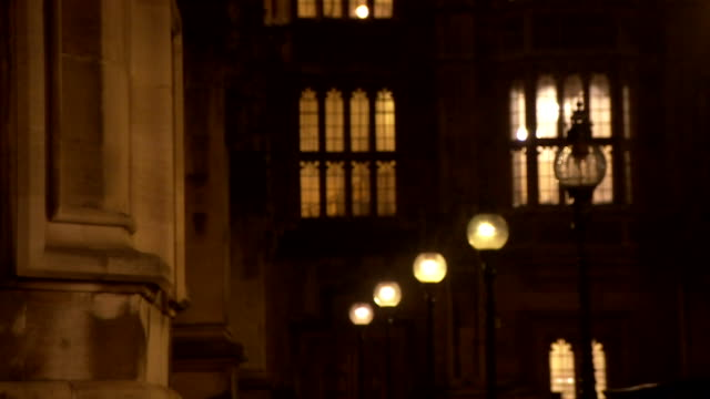the houses of parliament at night - politics stock videos & royalty-free footage
