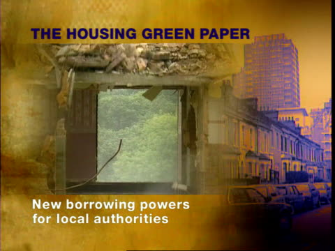 the housing green paper main points with graphicised pictures to illustrate hoc tv england london house of commons chamber graphicised pics john... - ジョン プレスコット点の映像素材/bロール