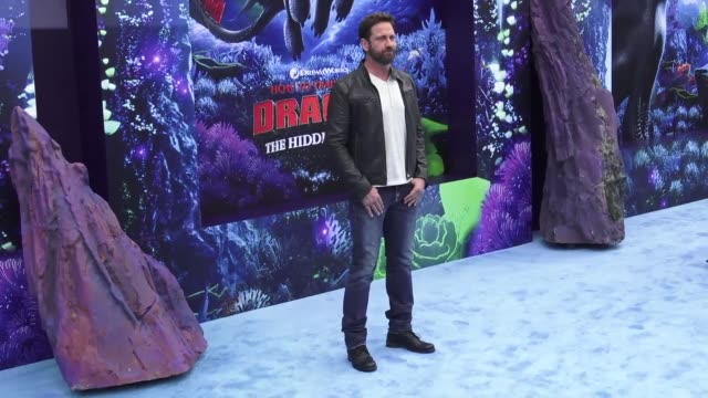 clean the 'how to train your dragon the hidden world' world premiere at regency village theatre on february 09 2019 in westwood california - how to train your dragon stock videos & royalty-free footage