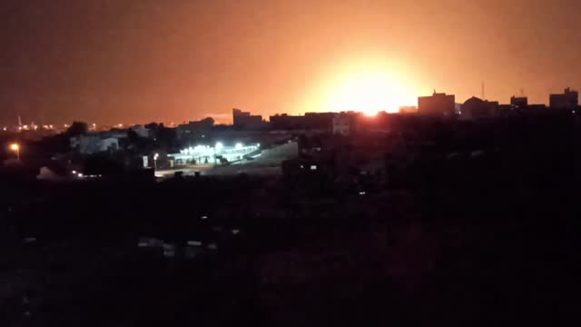 //twitter.com/idf/status/1405021981712470017 israeli military said its fighter jets struck targets in gaza, including khan yunis, overnight on june... - https stock videos & royalty-free footage