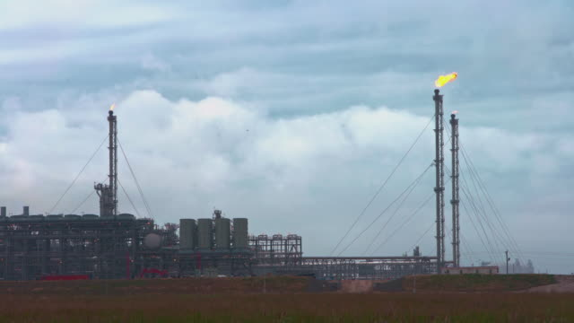 the huge refinery at the border between louisiana and texas, usa - motor oil stock videos & royalty-free footage
