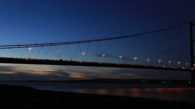 The Humber Bridge over the River Humber near Hull, Yorkshire, England, UK