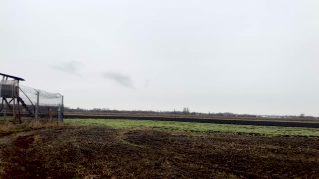 The Hungarian border fence with Serbia on January 18 2019 outside Szeged Hungary In 2015 thousands of migrants massed on the Hungarian border The...