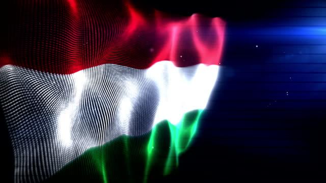 The Hungarian Flag - Background Loop (Full HD)