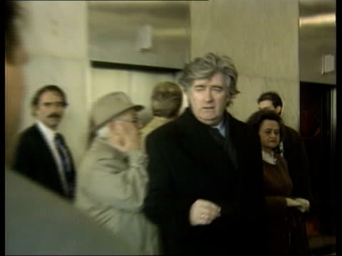 the hunt for radovan karadzic; file / tx 5.2.93 usa: new york: united nations: int radovan karadzic zoom in as comments to neely sot - land is a... - ラドヴァン カラジッチ点の映像素材/bロール