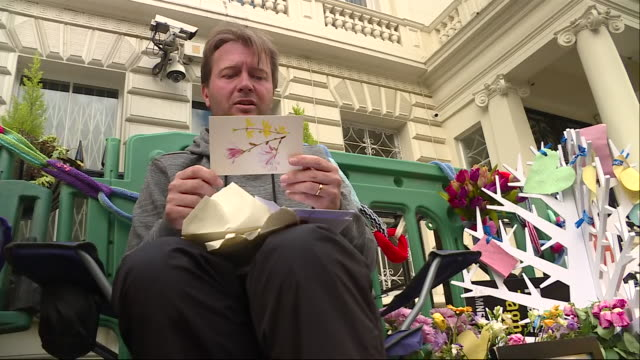 the husband of nazanin zaghariratcliffe richard radcliffe begins hungerstrike outside iranian embassy in london our senior correspondent lisa holland... - richard ratcliffe video stock e b–roll