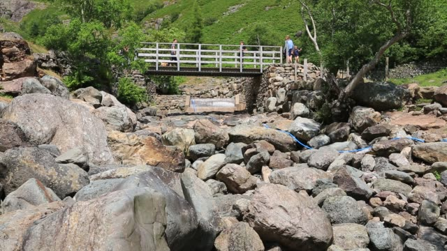 the hydro project in stickle ghyll langdale, lake district, uk, dried up in the drought like conditions of summer 2018. - drought stock videos & royalty-free footage
