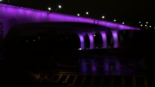 The I35W Bridge in Minneapolis has been lit purple to honor the passing of legendary Minnesotan musician Prince