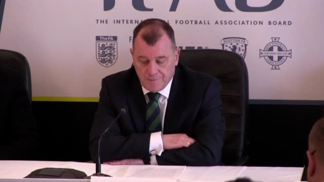 the ifab hold their annual agm meeting in belfast the international football association board has agreed to introduce trials for concussion... - fifa stock videos & royalty-free footage