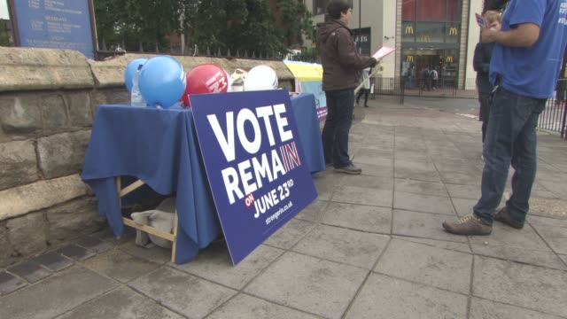 VIEWS The 'I'm In' campaign's last minute canvasing in Ealing at The EU Referendum The UK Votes on June 23 2016 in London England