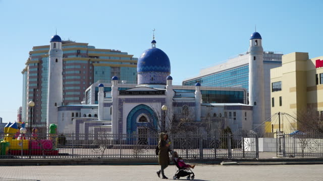 the imangali mosque - kazakhstan stock videos & royalty-free footage