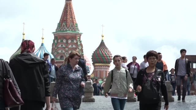 the impassioned shouts of rossiya may have died away but the pride of russian fans in their national team still lingers on the streets of moscow a... - international team soccer stock videos & royalty-free footage