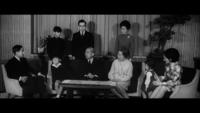 the imperial family at fukiage palace/emperor and empress crown prince and princess /prince hironomiya prince ayanomiya princess norinomiya prince... - japanese royalty stock videos and b-roll footage