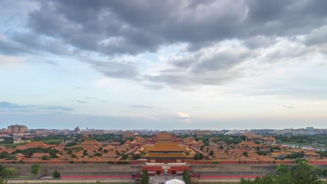 Das imperial palace in Peking von Tag zu Nacht, China. TIMELAPSE.