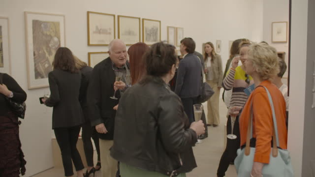 the inaugural draw art fair takes place at saatchi gallery on may 15 2019 in london england - opening stock videos & royalty-free footage