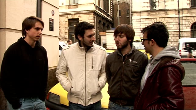'the inbetweeners' actors complete 'rude road trip' challenge for comic relief; joe thomas, blake harrison, james buckley and simon bird interview... - lenny henry stock videos & royalty-free footage