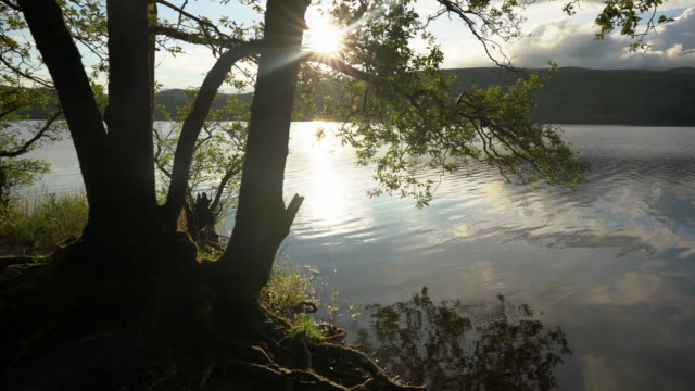 the incredibly relaxing coniston water in the english lake district a truly magical place - lakeshore stock videos & royalty-free footage