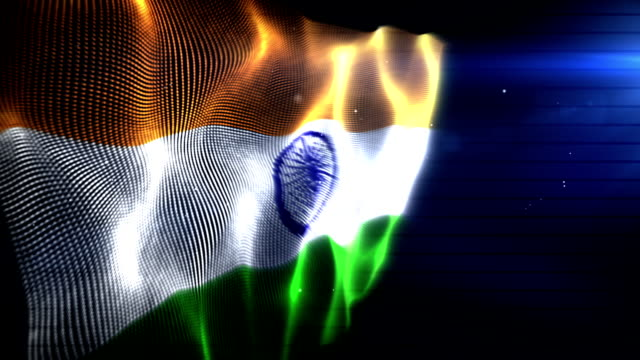the indian flag - background loop (full hd) - indian flag stock videos & royalty-free footage