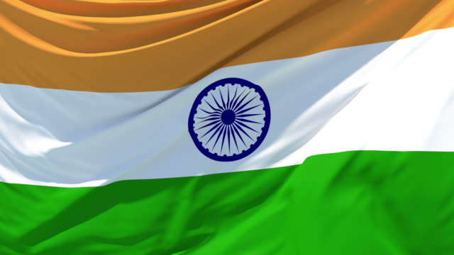 the indian flag fluttering in the wind - india flag stock videos & royalty-free footage