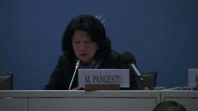 the indonesian candidate for the position of director general at the world trade organization ms mari elka pangestu presented herself tuesday as a... - glove fist stock videos & royalty-free footage