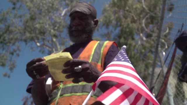the infamous skid row neighborhood of los angeles has the largest concentration of homeless people in america many of them veterans with mental... - veteran stock videos & royalty-free footage