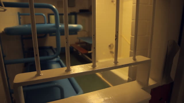 the inside of a prison cell - jail cell stock videos & royalty-free footage