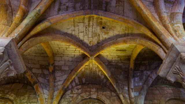 The inside of Le Thoronet Abbey