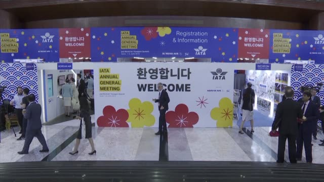 the intensifying us china trade war and rising fuel prices will continue to bog down airline profits this year the international air transport... - international air transport association video stock e b–roll