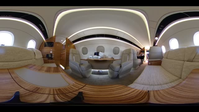 Video was created as an Equirectangular Panorama Import video into a panoramic player to create an interactive 360 degree view The interior an...