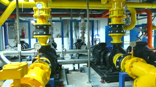 the interior of factory machinery plant - gas pipe stock videos and b-roll footage