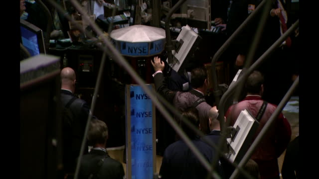 the interior of the new york stock exchange during business hours - 2008 stock videos & royalty-free footage
