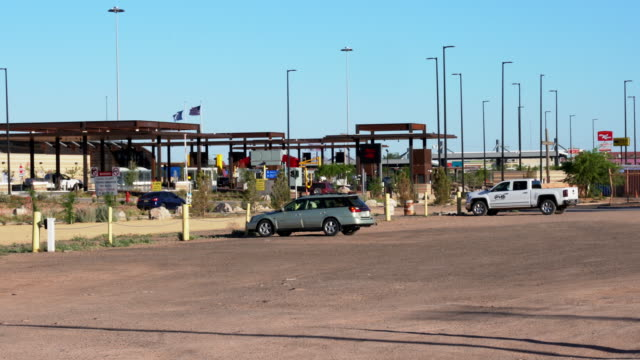 the international border crossing at columbus, new mexico - international border stock videos & royalty-free footage