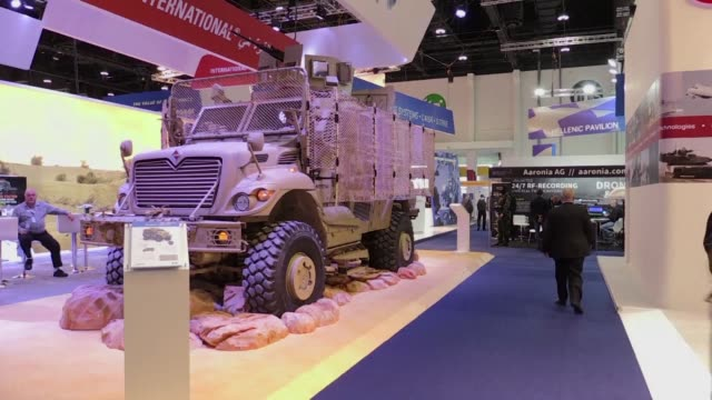 The International Defence Exhibition and Conference the biggest arms fair in the Middle East opens in Abu Dhabi