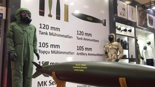 the international defense industry fair, one of the world's largest global defense events, kicked off in istanbul on tuesday, aug. 17, to showcase... - weaponry stock videos & royalty-free footage