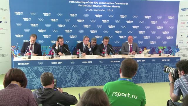 vídeos y material grabado en eventos de stock de the international olympic committee on thursday declared russias magnificent olympic venues in sochi were ready for the 2014 winter games adding it... - sochi